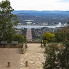 Out for a run - on top of Mount Ainslie