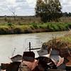 Water wheels by a channel, along Kidman Way