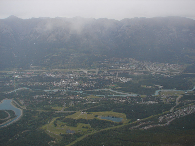 Canmore from the summit of Ha Ling