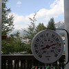 <b>16 August 2010</b> Trying to capture the hottest temperature of Summer on our thermometer.  There's been a few days where it's hit 27-28oC, but nothing above 30oC