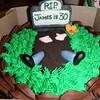 <b>June</b> James' birthday cake