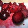 <b>12 Dec 2009</b> Chopping beetroot for borscht