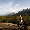 <b>27 July 2010</b> Riding the new bike trail from Banff to Canmore with Zara and James (36 and a bit weeks pregnant)