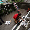 <b>21 August 2010</b> Finally doing a Summer wax of the skis