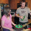 <b>June</b> Zara and James with the awesome cake