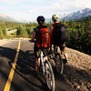<b>27 July 2010</b> Riding the new bike trail from Banff to Canmore with Zara and James