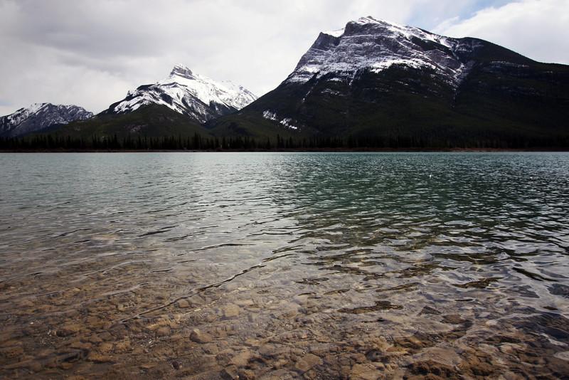 <b>1 May 2010</b> Gap Lake, along the 1A between Canmore and Calgary