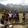 <b>June</b> The CMH gang, off on the bike trip down Goat Creek (Jason, Jo-Dean, Nancy, Andre, Mel, Jen, Laura, Sada)