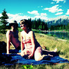<b>17 July 2010</b> James and Zara at Quarry Lake, Canmore