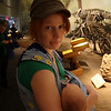 <b>11 Sept 2010</b> Finn lulled to sleep by the dinosaurs, Royal Tyrrell Museum, Drumheller