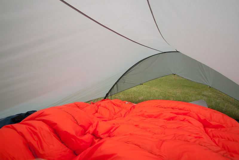 <b>3 July 2011</b>  The new tent with the new, homemade down quilt