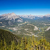 <b>7 September 2012</b> Banff from the top of Sulphur Mountain
