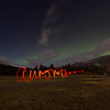 <b>30 September 2012</b> Canmore Aurora Borealis - light writing :)