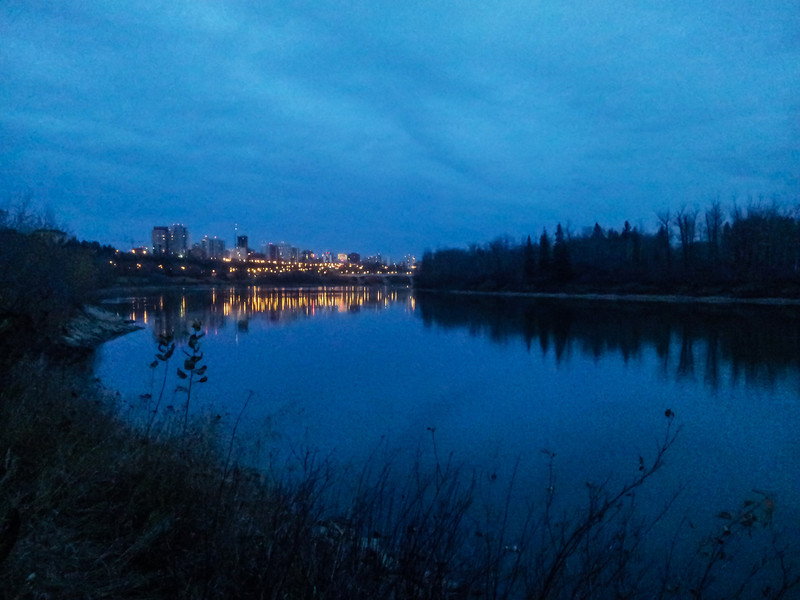 <b>18 October 2012</b> Running again in Edmonton, after sunset