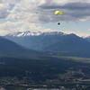 <b>16 June 2013</b> Mount Swansea.  Paragliding over Invermere