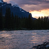 <b>21 June 2013</b> Bow River sunset