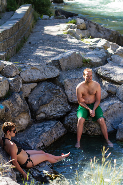 <b>16 June 2013</b> Lussier Hot Springs - Zara and James by the hottest pool