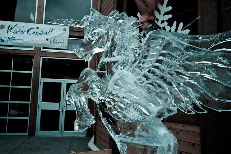 <b>12 Feb 2012</b> Ice carving at the Winter Carnival
