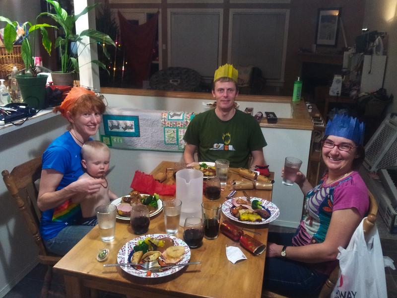 <b>Christmas Day 2011</b>Christmas dinner: Megan with Finn, Joel, Kristy