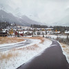 <b>20 October 2012</b> Running along the Bow River trail, Canmore