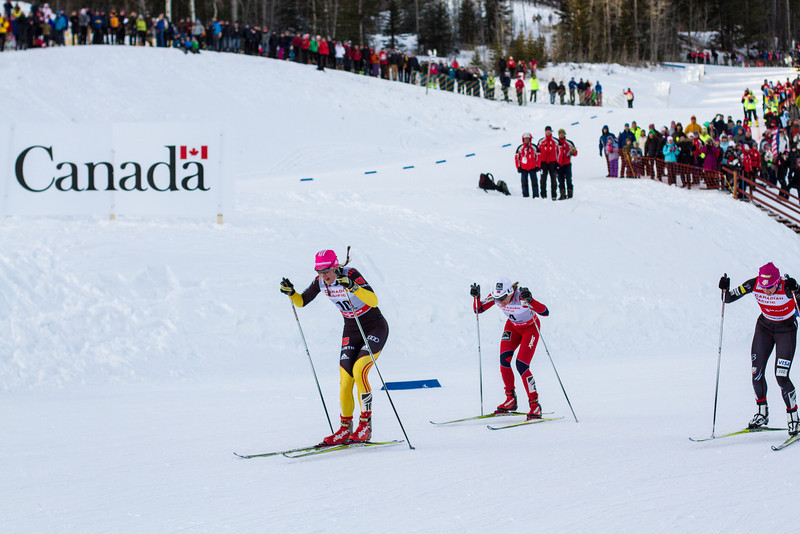 <b>15 December 2012</b> Watching the World Cup sprints at the Nordic Centre