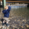 <b>28 March 2013</b> Teaching the river by throwing rocks at it