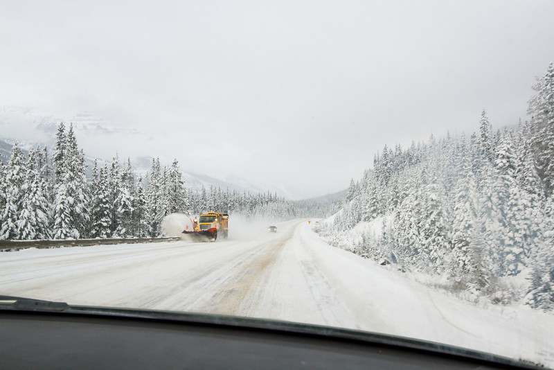 <b>27 October 2012</b> Driving down to Invermere to escape winter