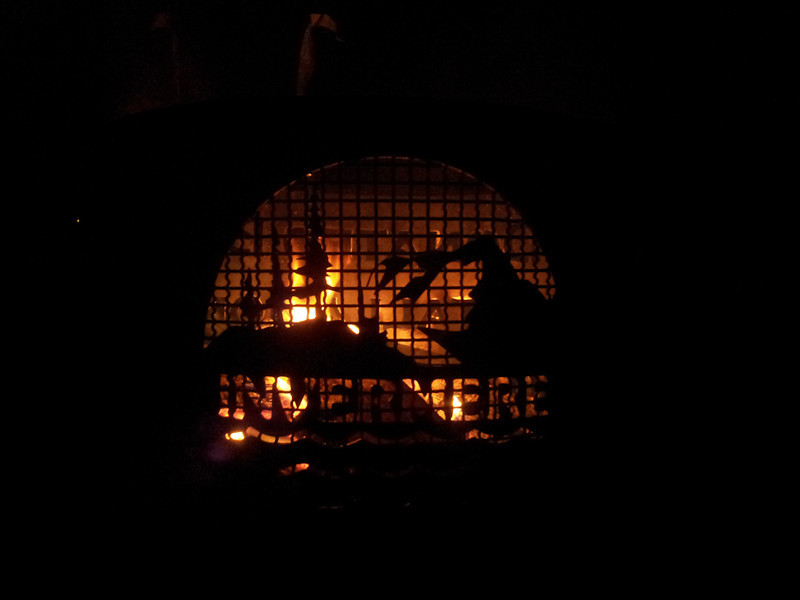 <b>18 Jan 2013</b> Bonfire at the Invermere Bonspiel