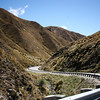 Back down through the Crown Range towards Wanaka - we met four cycle tourists grinding their way up towards the pass.
