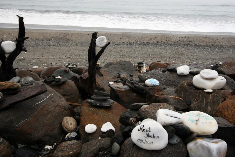 Visitor rocks, Bruce Bay