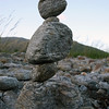 More rock balancing at Lake Paringa