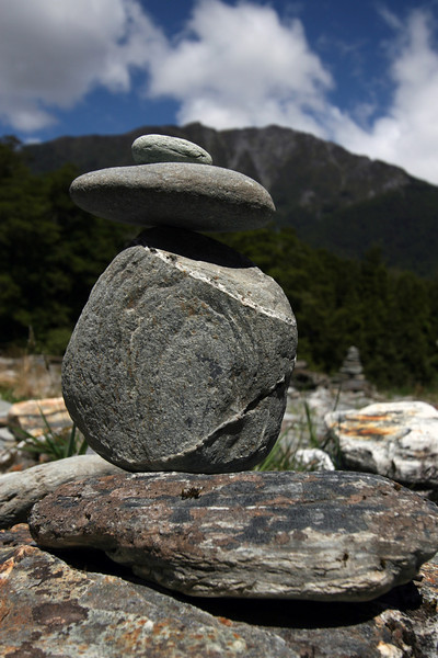 My very first rock balancing effort