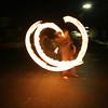 Fire twirling in the street outside 20 Church St