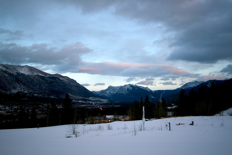 Bow Valley view from the Canmore Nordic Centre