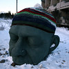The Head in Canmore.  This time with a giant toque someone has crocheted.