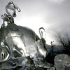Ice sculptures in Canmore - Rabbits
