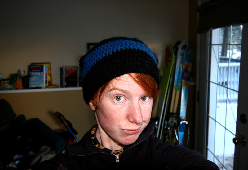 I made a hat! Getting into crocheting stuff this winter.