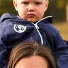 Grumpy Finn with Aunty Kristy