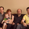 Dinner at Uncle Ray's house: Ray, Megan with Finn, Zeide, David