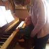 Playing the piano again, with Aunt Dee this time