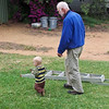 Finn with Grandad