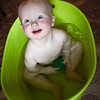 Baths in green tubs