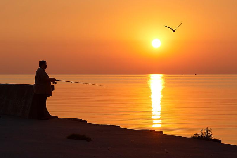 Sunrise Angler