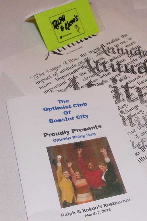 Optimist Rising Star 2018 - Middle School