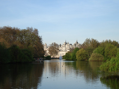 St. James' Park, No. 10 Downing Street in the background.