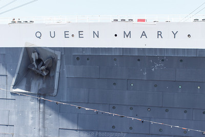 The bow of the Queen Mary ship