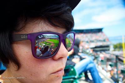 Sunglasses at the San Francisco Giants