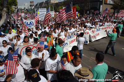 Immigration Protest March - Los Angeles, CA - May 1, 2006