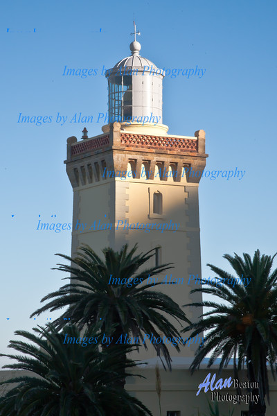 Lighthouse ar Cap Spartel, Morocco, Tangier