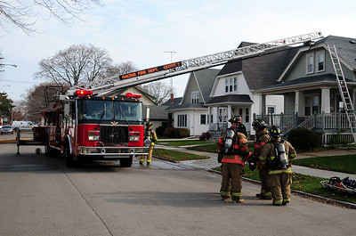 The following is a Press Release provided by the Racine Fire Department...   CITY OF RACINE FIRE DEPARTMENT 810 Eighth Street Racine WI 53403  Press Release  CONTACT: Lt. John Spranger  DATE: 11/14/2009  INCIDENT INFORMATION  INCIDENT TYPE: Structure Fire  INCIDENT LOCATION: 2521 Olive Street  INCIDENT DATE / TIME: 11/14/2009 at 1139hrs  OWNER / OCCUPANT INFORMATION: Owner-Josh Brunner  INJURIES: 0  ESTIMATED LOSS: $2000.00  CAUSE / ORIGIN: Chimney ignited roofing materials and wood framing.  Fire Companies Responded on Initial Alarm; Engines 6 & 9, Quint 7, Rescue 1 ALS, Car 41 - Battalion Chief , Car 43 Safety Officer, Utility 2 Investigator and Truck 1 as Rapid Intervention Crew.   OTHER AGENCIES INVOLVED: Racine Police Dept.  Weather Conditions: N/A